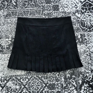 DKNY Short Black Pleated Schoolgirl Skirt